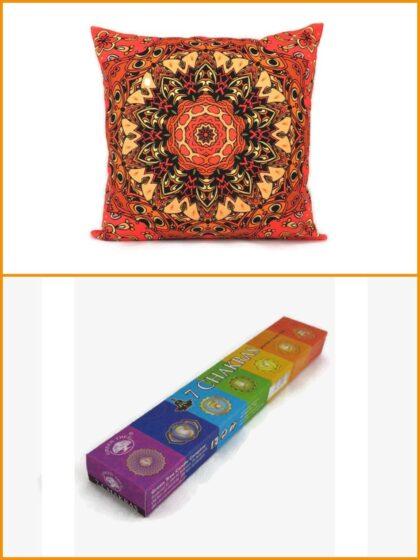 Meditációs párna + füstölő csomag