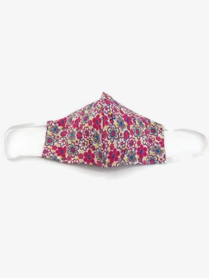 Textil szájmaszk 09 Pink virágok