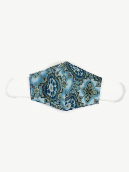 Textil szájmaszk 24 Mandala kék-arany