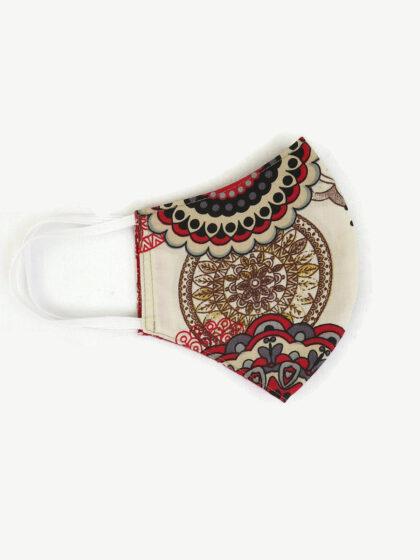 Textil szájmaszk 26 Mandala piros