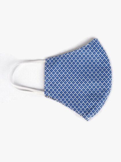 Textil szájmaszk 38 Kék-Azték