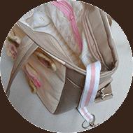 női oldaltáska textil belsővel